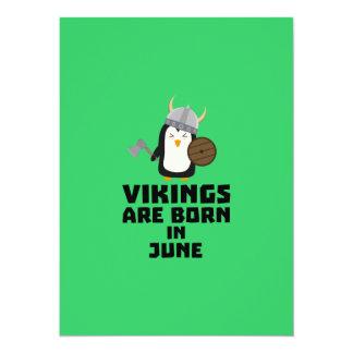 Vikings are born in June Zj328 Card