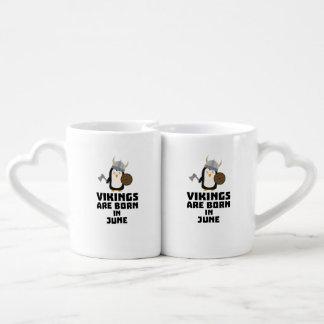 Vikings are born in June Zj328 Coffee Mug Set