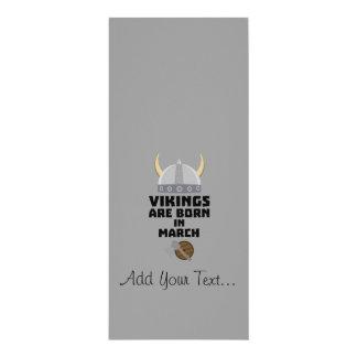 Vikings are born in March Z5e6q Card