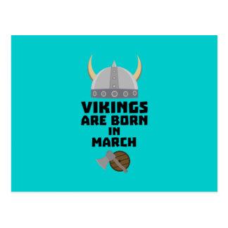 Vikings are born in March Z5e6q Postcard