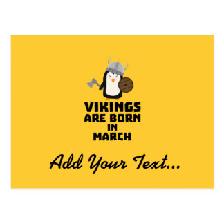 Vikings are born in March Zy9g3 Postcard