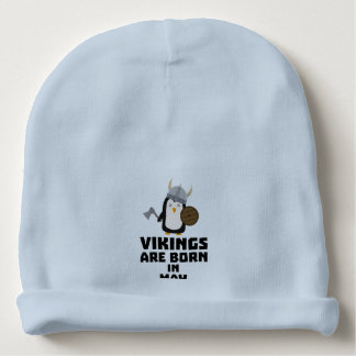 Vikings are born in May Z2o7h Baby Beanie