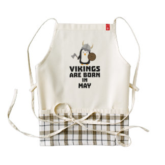 Vikings are born in May Z2o7h Zazzle HEART Apron