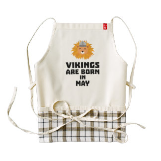 Vikings are born in May Z30b1 Zazzle HEART Apron