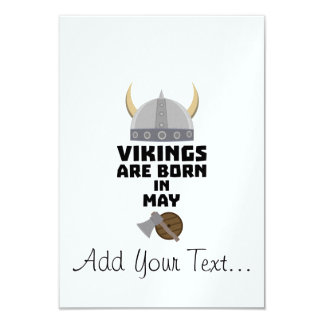 Vikings are born in May Z5w4a Card