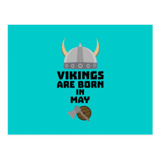 Vikings are born in May Z5w4a Postcard