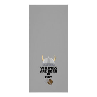 Vikings are born in May Z5w4a Rack Card