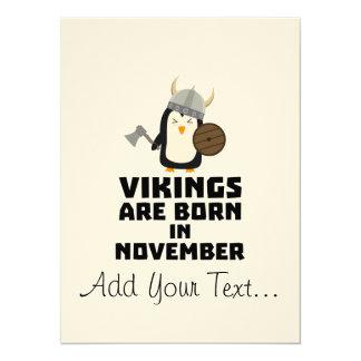 Vikings are born in November Z2lmi Card