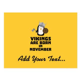 Vikings are born in November Z2lmi Postcard