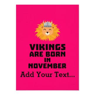Vikings are born in November Zur82 Card