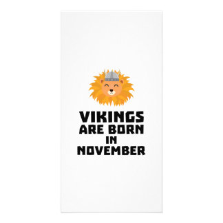 Vikings are born in November Zur82 Card