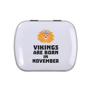 Vikings are born in November Zur82 Jelly Belly Tin