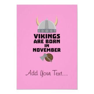 Vikings are born in November Zy53w Card