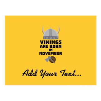Vikings are born in November Zy53w Postcard