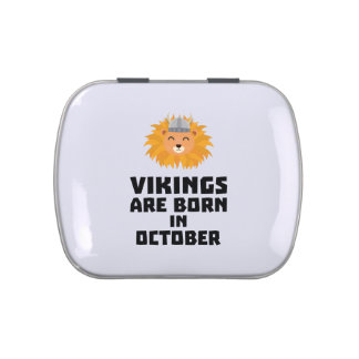 Vikings are born in October Z0v8r Jelly Belly Candy Tin