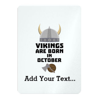 Vikings are born in October Zv005 Card