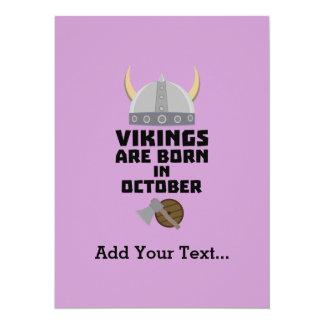 Vikings are born in October Zv005 Card