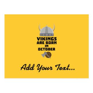 Vikings are born in October Zv005 Postcard