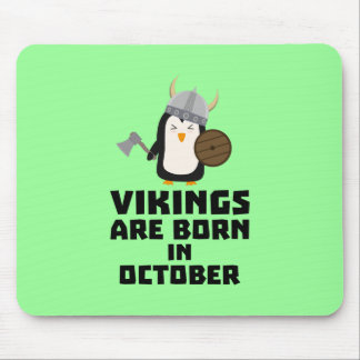 Vikings are born in October Zvb06 Mouse Pad