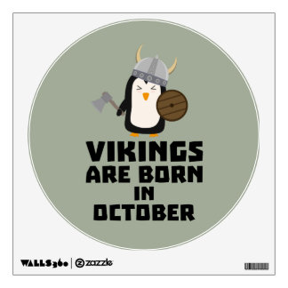 Vikings are born in October Zvb06 Wall Decal
