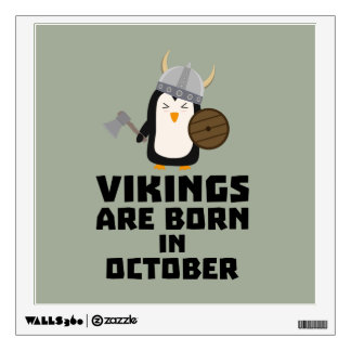 Vikings are born in October Zvb06 Wall Sticker