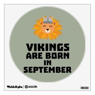 Vikings are born in September Zoid8 Wall Sticker
