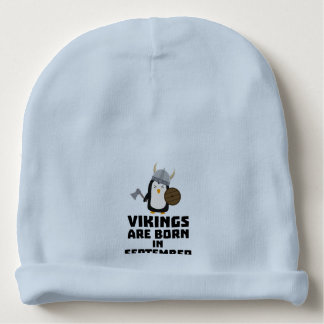 Vikings are born in September Zzu23 Baby Beanie