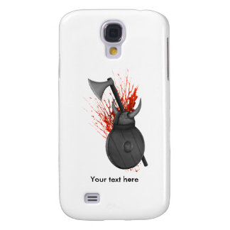 Vikings Axe, wooden shield and helmet Samsung Galaxy S4 Cover