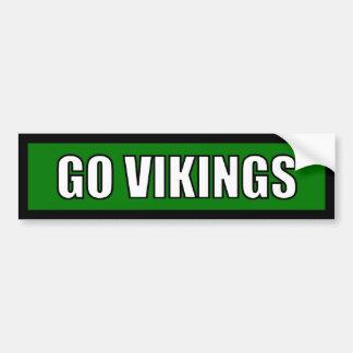 Vikings - Black Green White Car Bumper Sticker
