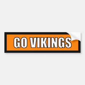 Vikings - Black Orange White Car Bumper Sticker