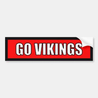 Vikings - Black Red White Sticker Car Bumper Sticker