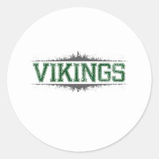 Vikings Classic Round Sticker