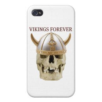 VIKINGS FOREVER...FUNNY SKULL AND HELMET PRINT iPhone 4/4S CASES