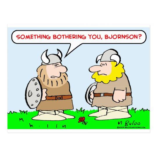 vikings horns bothering postcard