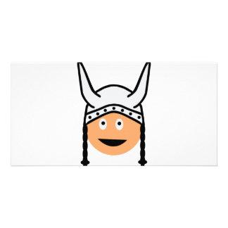 vikings icon customized photo card