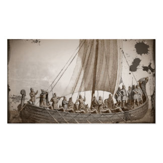 Vikings in a Longboat Double-Sided Standard Business Cards (Pack Of 100)