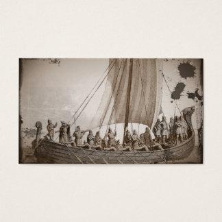 Vikings in a Longboat Business Card