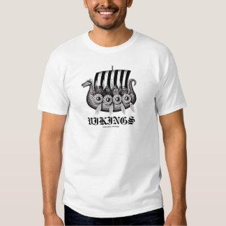 Vikings in Drekar black and white pen ink drawing Tee Shirt