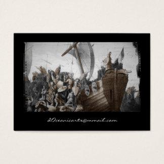 Vikings in Longboat Business Card