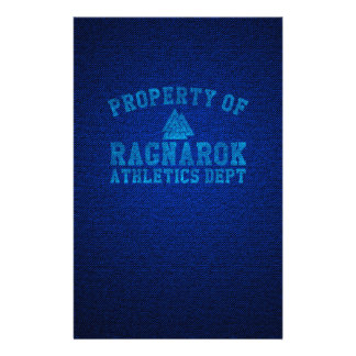 Vikings Property of Ragnarok Athletics Department Stationery