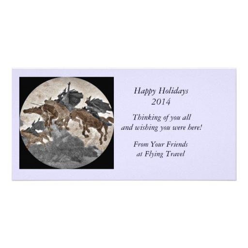 Vikings Riding Through Storm Photo Card Template