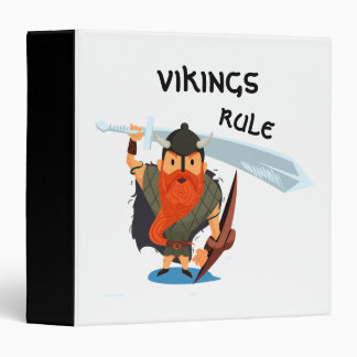 Vikings Rule 3 Ring Binder