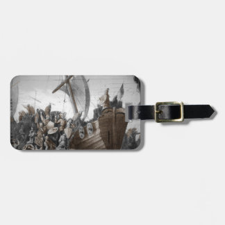 Vikings Storming a Longboat Tag For Bags