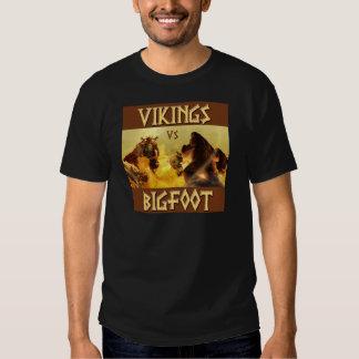 VIKINGS vs. BIGFOOT - Funny Fantasy Mashup Shirts