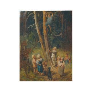 Viktor Mikhaelovich Vasnetsov Children Raiding Nes Wood Poster