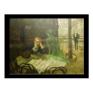 Viktor Oliva. Absinthe Drinker Postcard