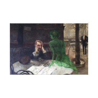 Viktor Oliva The Absinthe Drinker Canvas Print