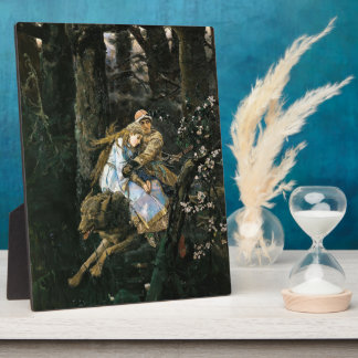 Viktor Vasnetsov- Ivan Tsarevich Riding Grey Wolf Plaque