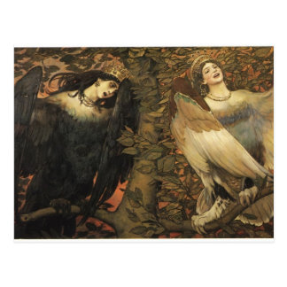 Viktor Vasnetsov- The Birds of Joy and Sorrow Postcard