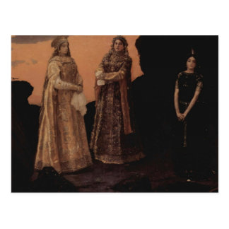 Viktor Vasnetsov- Three Tsarevnas of Kingdom Postcard